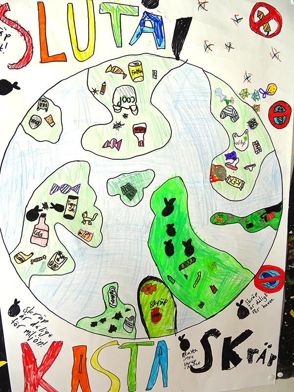 Teckning från eleverna.