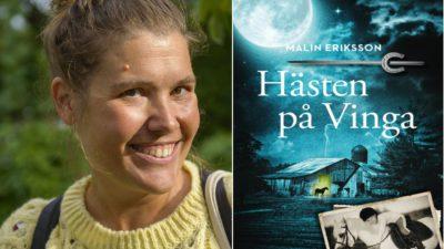Till vänter: Malin Eriksson, Till häger Månen lyser över ett stall