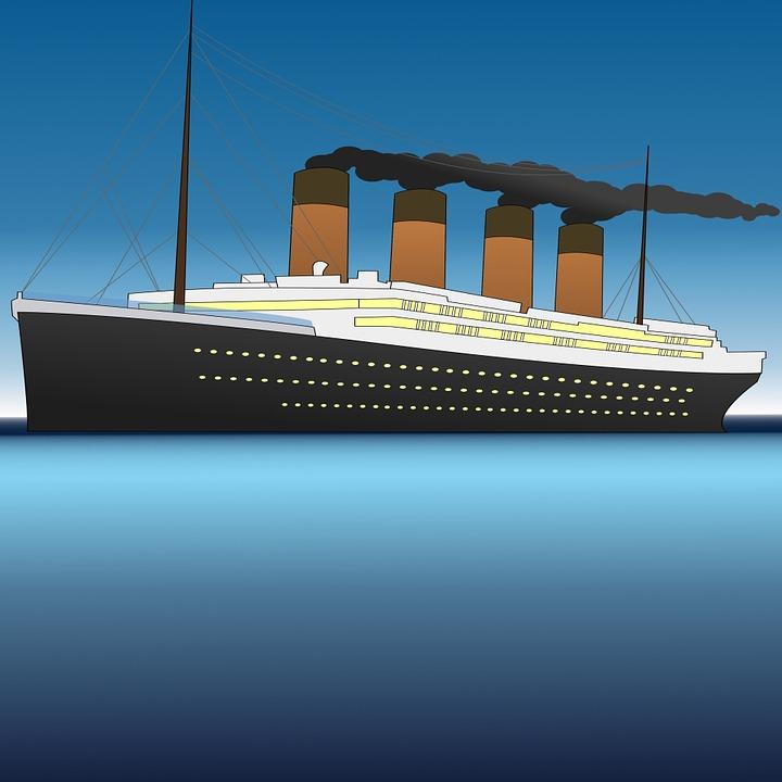 En animerad bild på Titanic