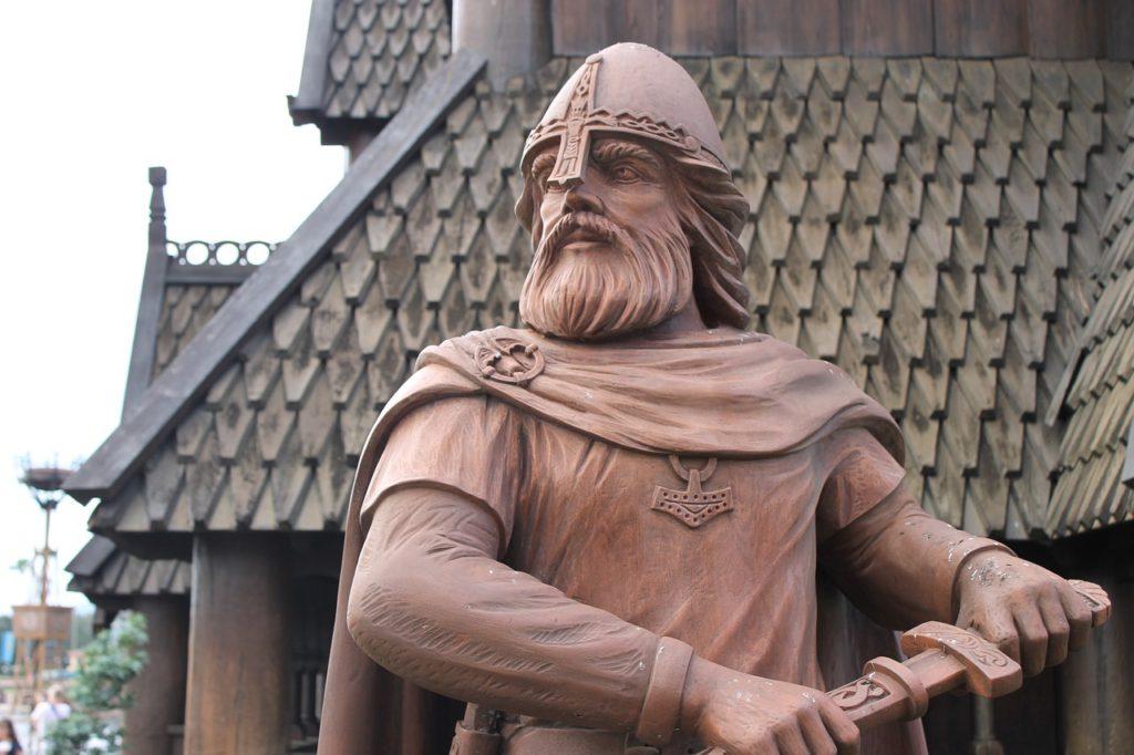 En staty av en viking
