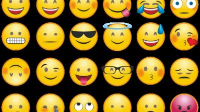 Många emojis
