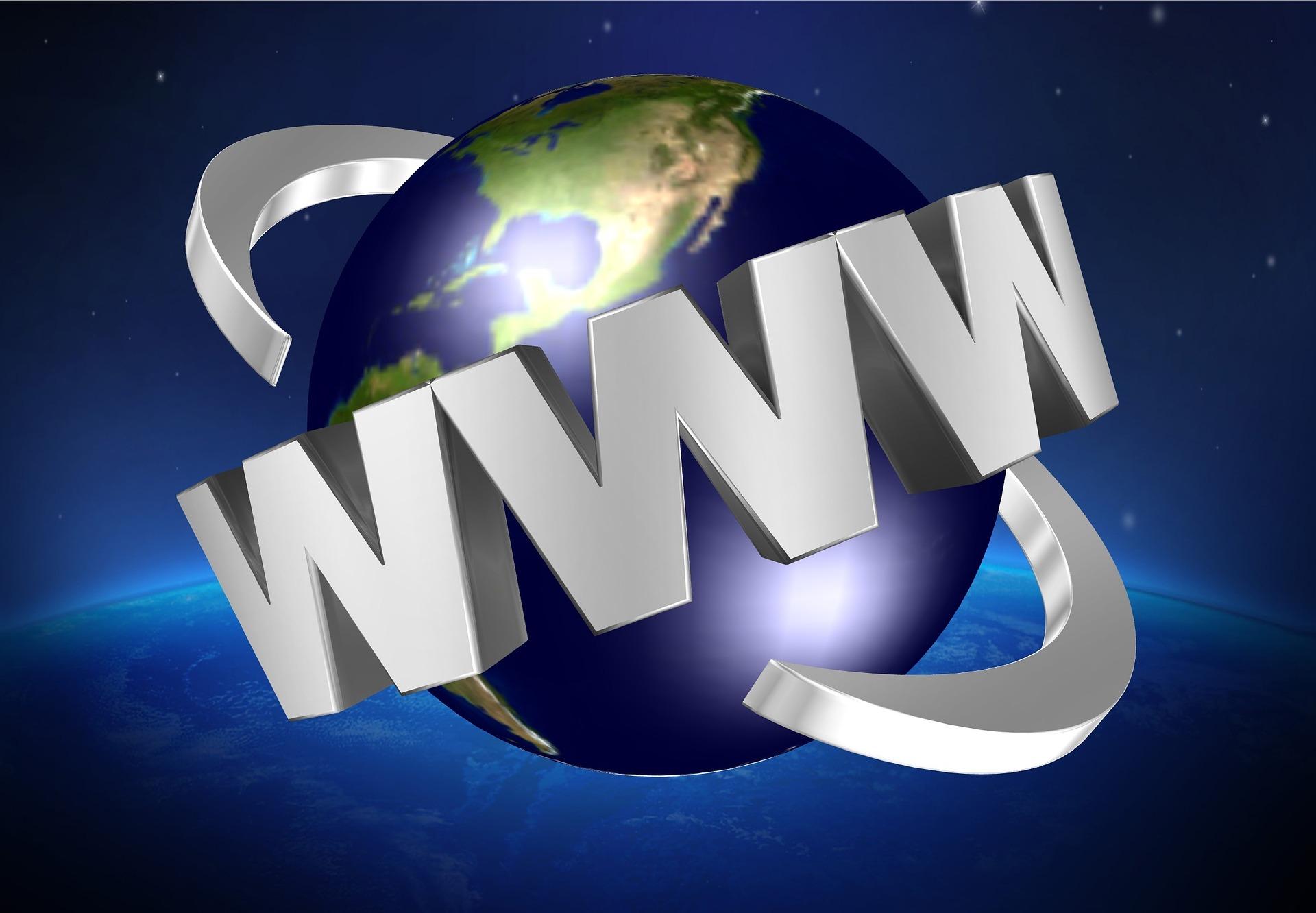 Jorden med texten www runt den