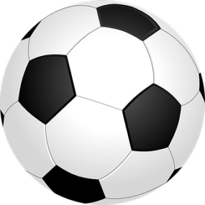 en svartvit fotboll