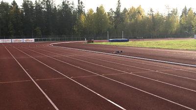Foto på löparbanan.