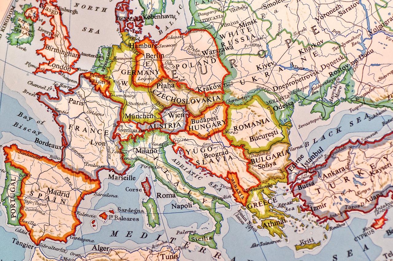 En karta över Europa.