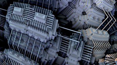 Grafisk bild på en kvantdator.