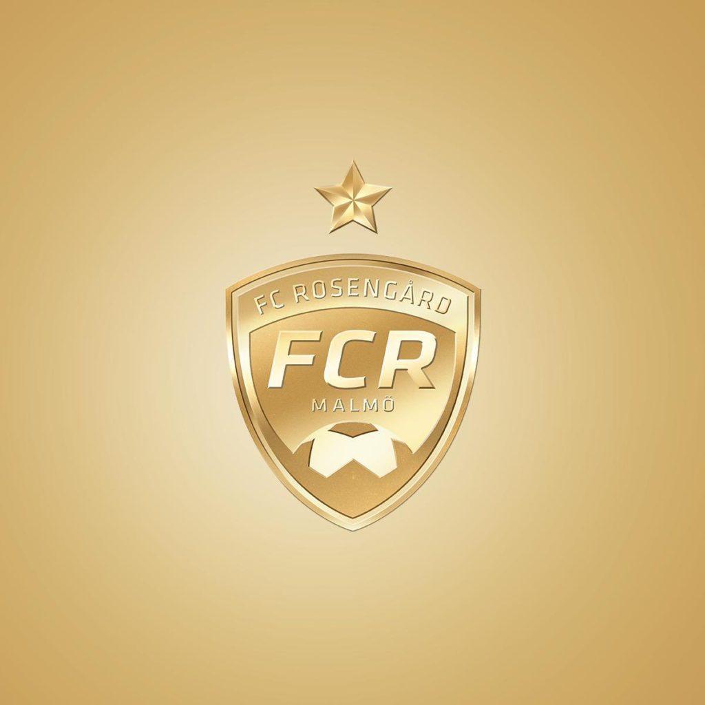 FC Rosengårds logga i guld