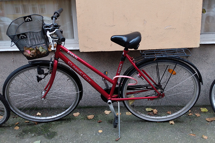 Foto på en cykel.
