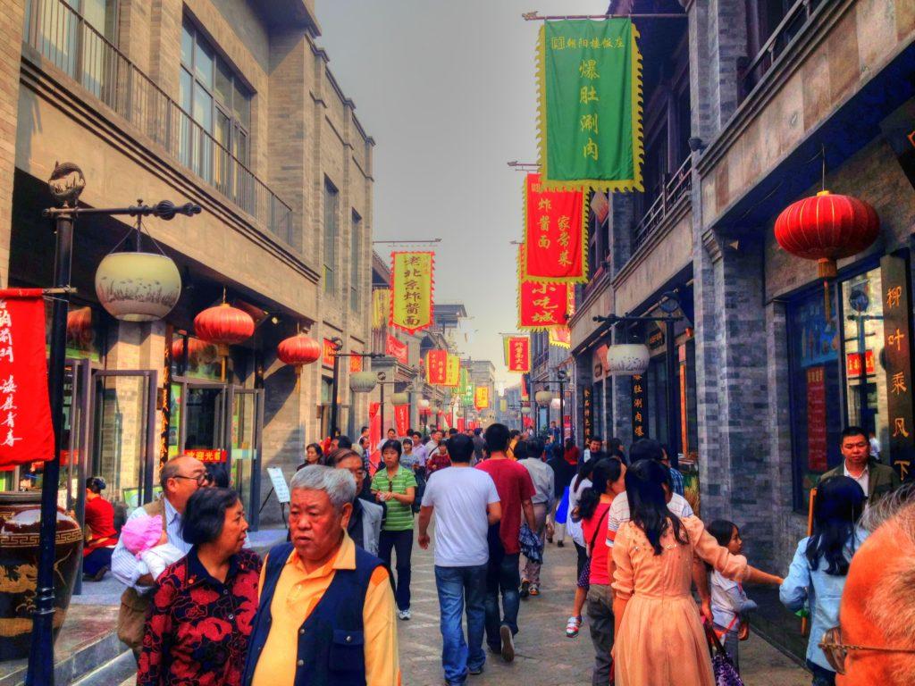 En gata i Beijing.