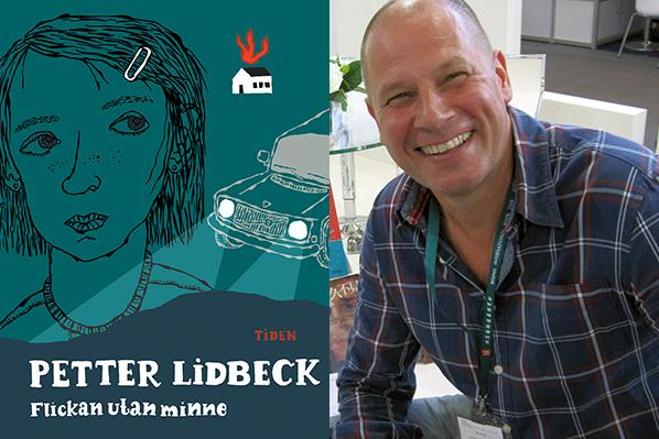 Foto på bokens omslag samt ett porträtt på författaren Petter Lidbeck.