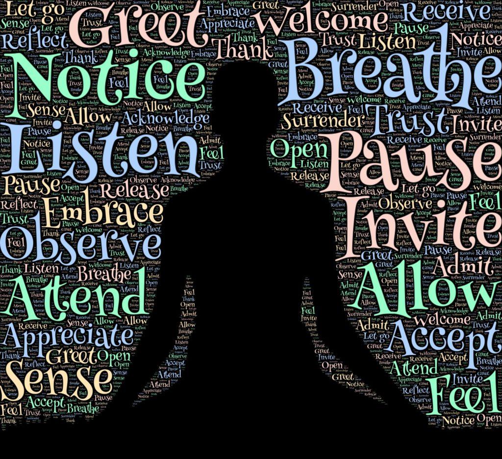 En figur som mediterar.
