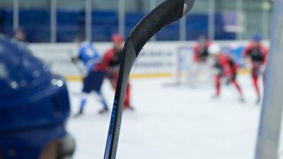 Foto från en ishockeymatch.