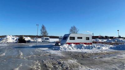 Foto från en camping i vintertid.