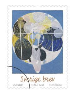 Hilma af Klints konst som frimärke