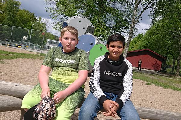 Elias Johnsson och Kaiss Aljazar