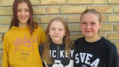 Joline Frohm, Vera Mårtensson och Amanda Bohman