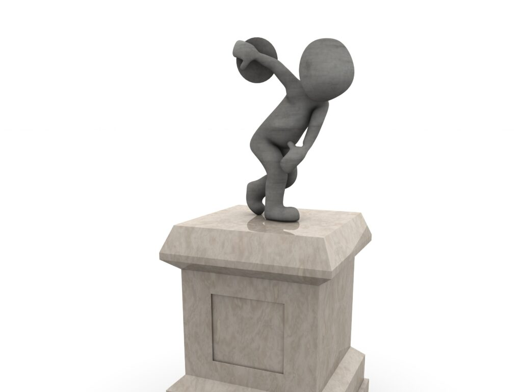 En figur som kastar diskus