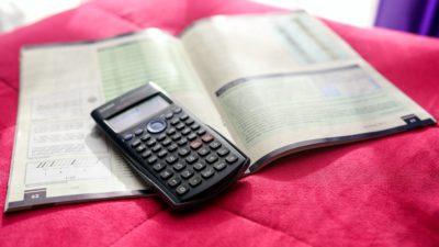 Räknebok och miniräknare
