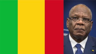 Malis flagga och före detta president