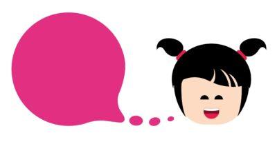 Flicka som pratar