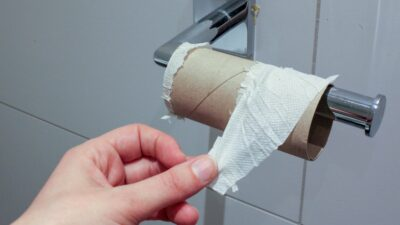 En rulle utan toalettpapper
