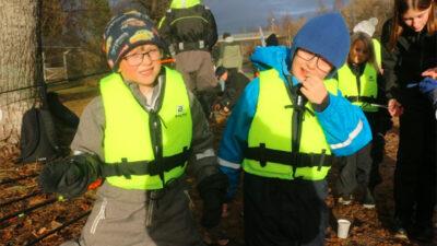 Foto på Oliver och Erik som besökte kanalen .