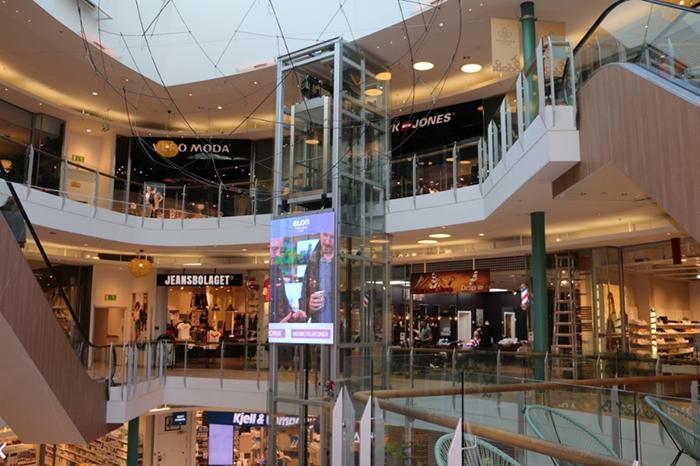 Foto från affärerna i Gallerian i Piteå.
