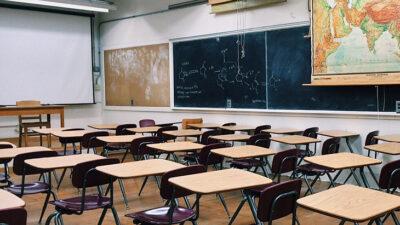 Ett tomt klassrum