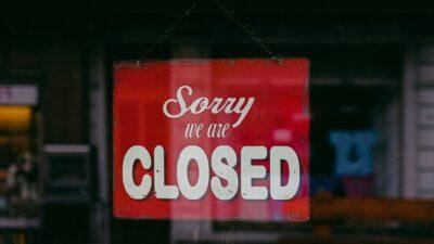 Stängd butik