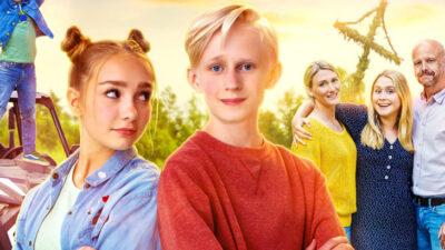 Sune som är omgiven av övriga karaktärer i filmen.
