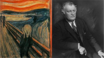 "Edvard Munchs tavla ""Skriet"""