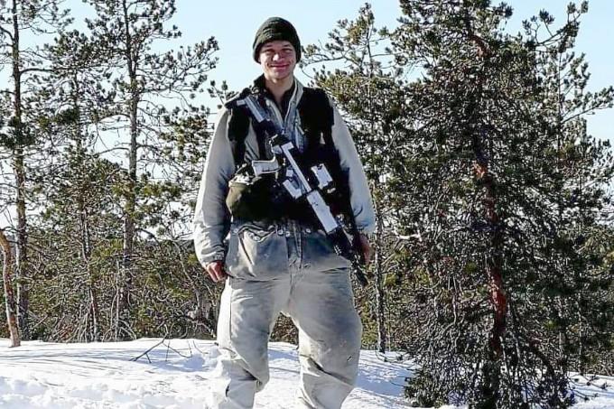 Nils van der Poel när han var med i Arméns jägarbataljon.