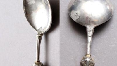 Sked i silver från 1500-talet.