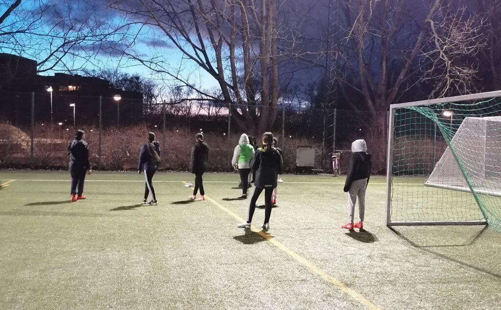 FC Möjligheten tränar