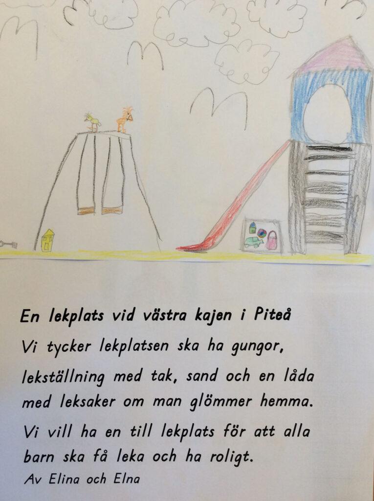 Elna och Elinas teckning.