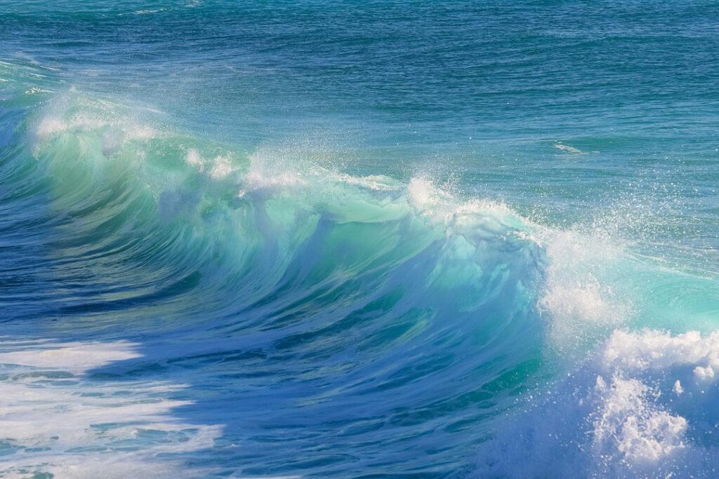 Ett turkosblått hav.