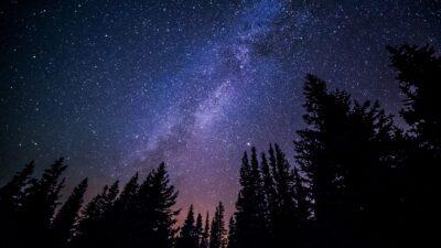 En meteor syntes på natthimlen i helgen.