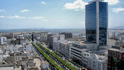 Tunisiens president har tvingat premiärministern att sluta.